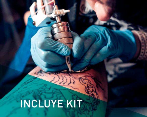 máster en tatuajes y micropigmentación con kit de tatuador