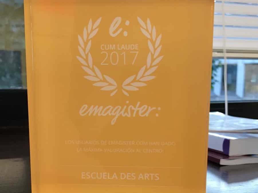 Escuela Des Arts recibe el Sello Cum Laude 2017 de Emagister